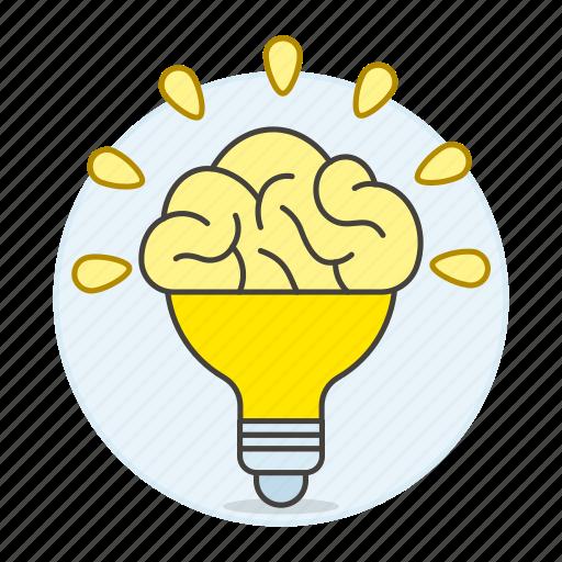 activity, brain, bulb, ideas, light, lightbulb, work icon