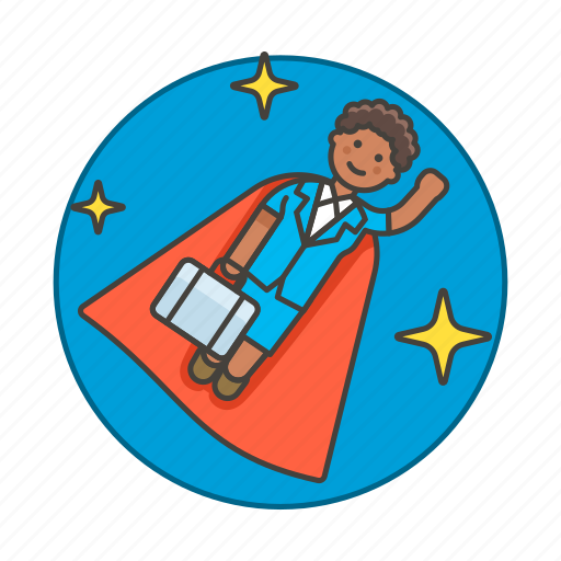 career, climb, female, fly, growth, motivation, night, promotion, star, suit, superman, work icon