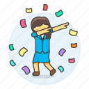 2, career, climb, dab, development, female, growth, ladder, motivation, promotion, work icon