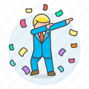 career, climb, dab, development, growth, ladder, male, motivation, promotion, work icon
