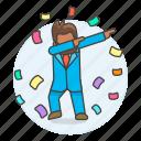 climb, promotion, work, development, career, male, motivation, ladder, growth, dab icon