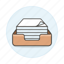 box, document, office, paper, ream, supplies, work icon