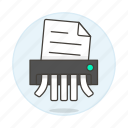 document, office, paper, shredder, supplies, work icon