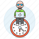male, laptop, deadline, efficient, hours, work, sit, clock, responsible, schedule, mac icon