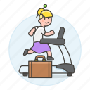 1, excercise, female, inspiration, intrinsic, motivation, reward, treadmill, work icon