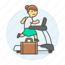 2, excercise, female, inspiration, intrinsic, motivation, reward, treadmill, work icon