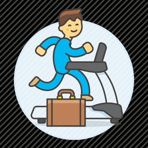 2, excercise, inspiration, intrinsic, male, motivation, reward, treadmill, work icon