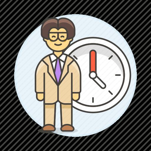 2, bonus, clock, deadline, extra, hours, male, overtime, stand, work, workload icon