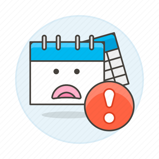 alert, approaching, calendar, deadline, exclamation, mark, stress, timetable, work, workload icon
