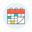 activity, calendar, organize, plan, schedule, timetable, work icon