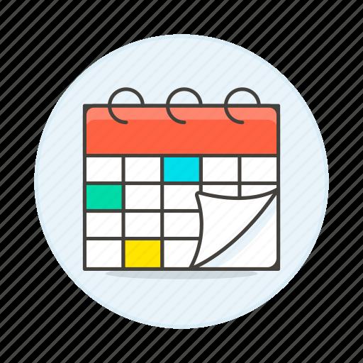activity, calendar, organize, plan, schedule, timetable, work icon