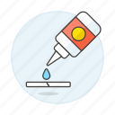 bottle, craft, glue, office, supplies, work icon