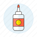 1, bottle, craft, glue, office, supplies, work icon