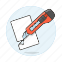 craft, cutter, office, paper, supplies, work icon