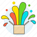 box, color, different, explosion, outside, think, work icon