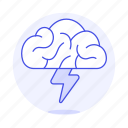 activity, brain, brainstorm, brainstorming, creativity, flash, idea, thunder, work icon