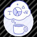 brainstorming, coffee, idea, ideas, logic, math, statistic, work icon