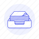 box, document, office, paper, ream, supplies, work