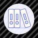 binder, close, craft, file, folder, office, paper, supplies, work icon