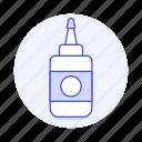 bottle, craft, glue, office, supplies, work