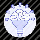 activity, brain, bulb, ideas, light, lightbulb, work