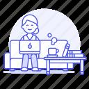 writer, career, digital, coffee, book, job, sofa, female, work, room, home, nomad, freelance, living