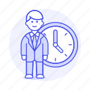 1, bonus, clock, deadline, extra, hours, male, overtime, stand, work, workload icon