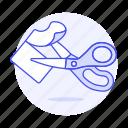 2, craft, office, paper, scissors, supplies, work icon