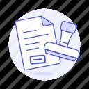 craft, office, paper, stamp, supplies, work icon