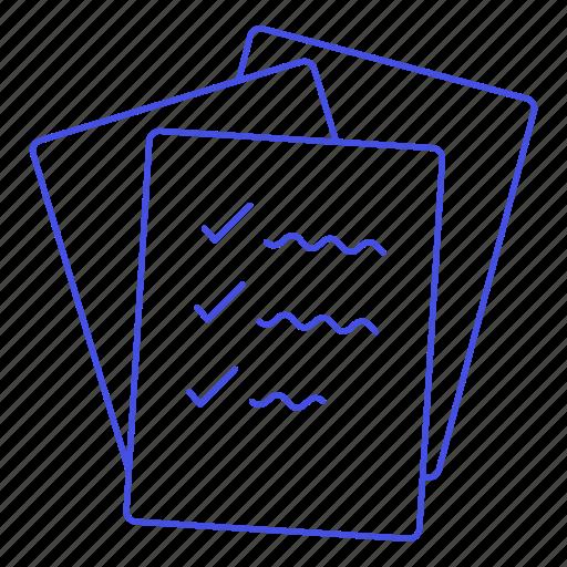 Checklist, checkmark, complete, do, document, list, pile icon - Download on Iconfinder
