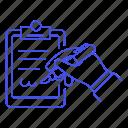 clipboard, document, office, sign, signature, supplies, work