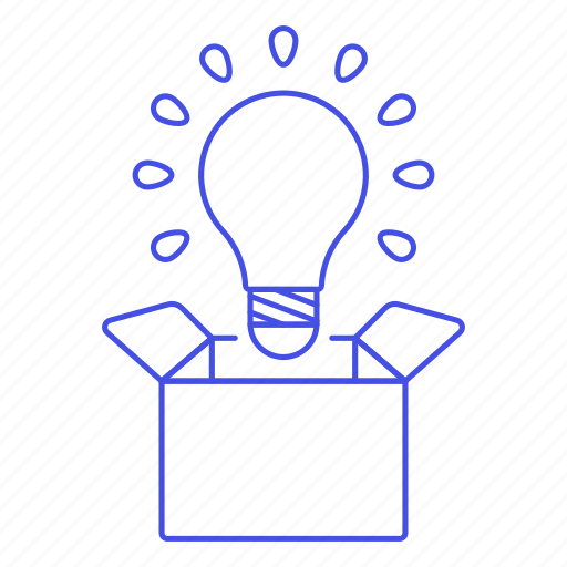 Box, bulb, idea, light, outside, think, work icon - Download on Iconfinder