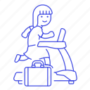 excercise, female, inspiration, intrinsic, motivation, reward, treadmill, work icon