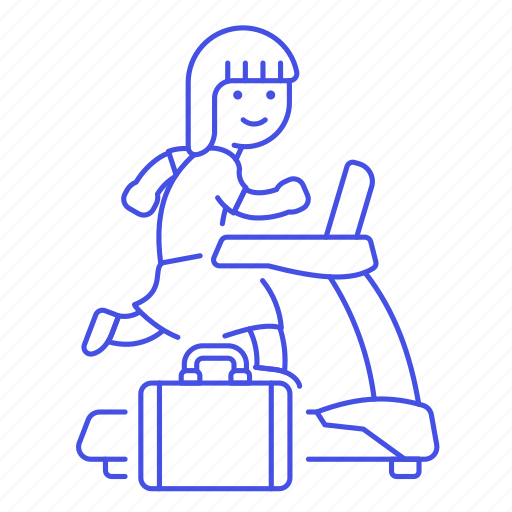 Excercise, female, inspiration, intrinsic, motivation, reward, treadmill icon - Download on Iconfinder