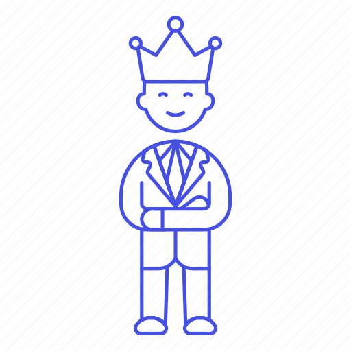 Boss, ceo, company, crown, hiring, human, leader icon - Download on Iconfinder
