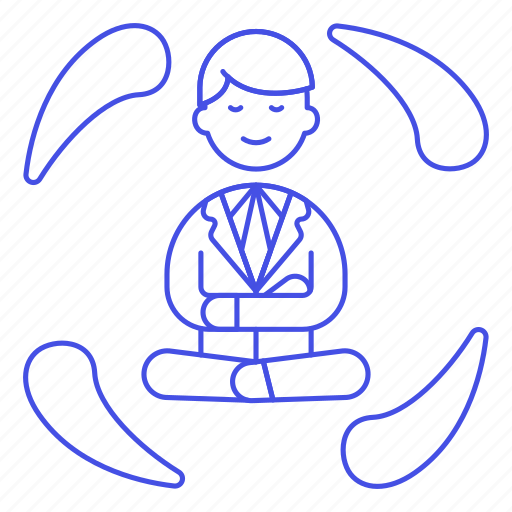 1, balance, equilibrium, life, male, meditate, meditating, work, zen icon