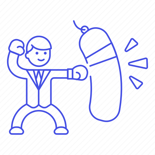 1, bag, box, exercise, glove, male, motivation, punching, sack, suit, work, workout icon
