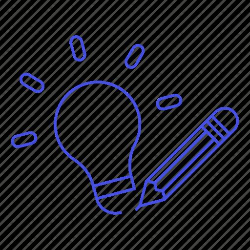 Bulb Draw Idea Ideas Light Pencil Sketch Icon Download On Iconfinder
