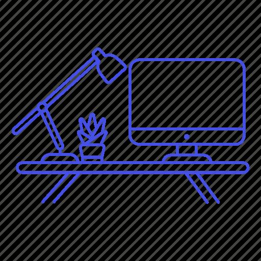 Computer, desk, display, imac, lamp, mac, pc icon - Download on Iconfinder