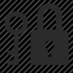 key, lock, locker icon