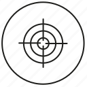 aim, goal, shield, target icon