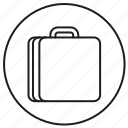 bag, briefcase, luggage, trip icon