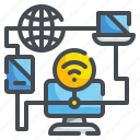 client, computer, data, internet, management, network, server icon