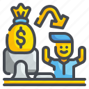 cash, compensation, money, payment, paypal, salary, wage icon