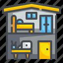 bureau, office, studio, working, workplace, workshop, zone icon