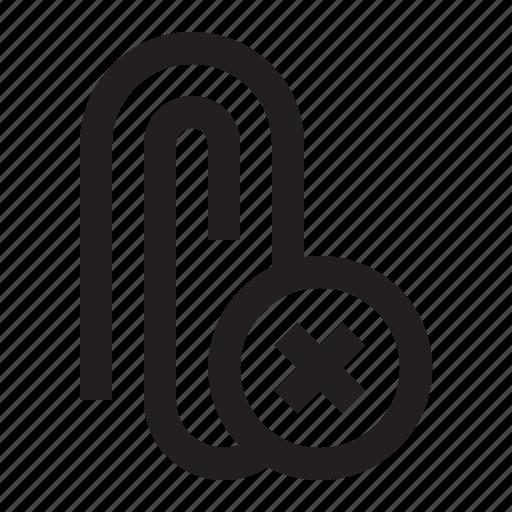 Attach, attachment, delete, paperclip icon - Download on Iconfinder