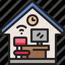 freelance, home, workspace, work, teleworking, office, desk