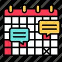 calendar, date, plan, schedule, work