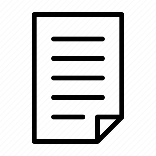 business, document, job, office, productivity, text, work icon