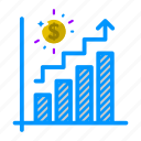 analytics, business, chart, finance, growth, metrics, sales icon